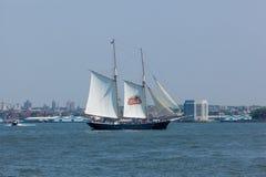 Stella Artois żeglowania statek Fotografia Stock