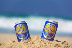 Stella Beach Royaltyfria Foton