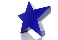 Stella blu Fotografia Stock Libera da Diritti