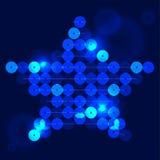 Stella blu Immagini Stock Libere da Diritti