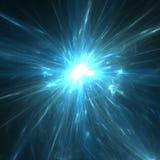 Stella blu dei fuochi d'artificio Immagini Stock