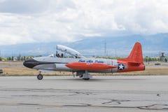 Stella cadente ct-133 di Canadair su esposizione Immagine Stock