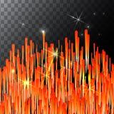 Stella cadente intelligente astratta - fucilazione con la traccia di twinkling su fondo trasparente - meteorite, cometa, asteroid illustrazione vettoriale