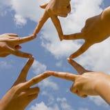 Stella dalle mani Fotografia Stock