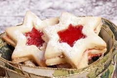 Stella dei biscotti della gelatina Fotografie Stock