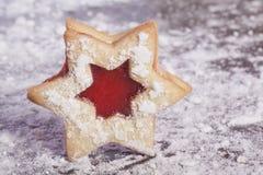 Stella dei biscotti della gelatina Fotografia Stock Libera da Diritti