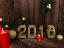 Stella del buon anno fotografia stock