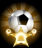 Stella del calcio Immagini Stock Libere da Diritti