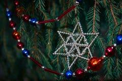 Stella del giocattolo dell'albero di Natale Immagine Stock