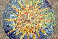 Stella del mosaico Fotografie Stock