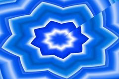 Stella dell'acqua blu Fotografie Stock Libere da Diritti