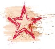Stella dell'acquerello di Grunge illustrazione di stock