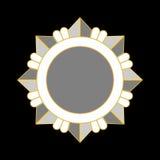 Stella dell'argento dell'icona del premio della medaglia Fotografie Stock Libere da Diritti