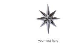 Stella dell'argento della decorazione di natale Fotografia Stock Libera da Diritti