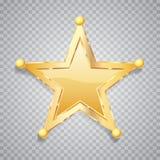 Stella dell'oro cinque della sfera illustrazione vettoriale