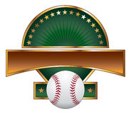 Stella dell'oro del modello di disegno di baseball Immagine Stock