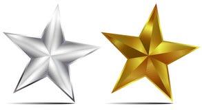 Stella dell'oro e dell'argento illustrazione di stock