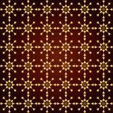 Stella dell'oro e modello astratti del cerchio su fondo pastello Immagine Stock Libera da Diritti