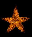 Stella della fiamma del fuoco Fotografie Stock Libere da Diritti