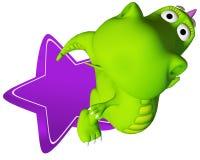 Stella della mosca del bambino del drago di Dino Immagine Stock Libera da Diritti