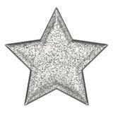 stella della pietra di grey d'argento dell'illustrazione 3D Immagini Stock