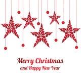 Stella delle decorazioni di Natale Buon Natale e buon anno Fotografie Stock