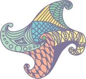 Stella di colore di Zentangle Fotografie Stock