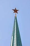 Stella di colore rosso del Kremlin Immagine Stock Libera da Diritti