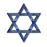 Stella di Davide di vetro blu Fotografie Stock Libere da Diritti