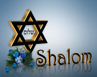 Stella di Davide elegante della priorità bassa di Hanukkah Fotografie Stock