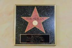 Stella di Don Henley alla città Texas Theater di musica in tiglio, TX immagini stock libere da diritti