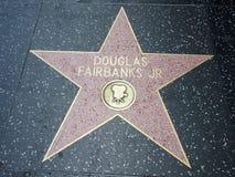 Stella di Douglas Fairbanks Jr a hollywood Fotografia Stock Libera da Diritti