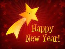 Stella di fucilazione di nuovo anno felice illustrazione vettoriale