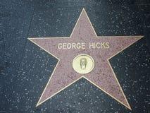Stella di George Hicks a hollywood Fotografie Stock