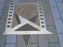 Stella di Jackie Chans al vicolo delle stelle, Hong Kong fotografie stock libere da diritti