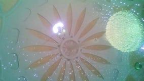 Stella di lampeggiamento sul tetto archivi video