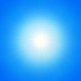 Stella di luce su un fondo blu illustrazione di stock
