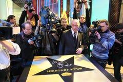 Stella di Milla Jovovich alla camminata di fama Vegas Fotografia Stock Libera da Diritti