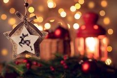 Stella di Natale sotto forma di giocattoli immagine stock libera da diritti