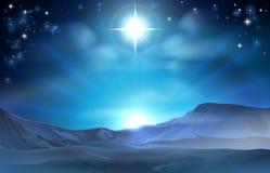 Stella di natività di Natale di Betlemme Fotografia Stock Libera da Diritti