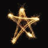 Stella di nuovo anno Fotografia Stock Libera da Diritti