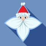 Stella di Santa Claus di vettore Immagini Stock