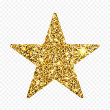 Stella di scintillio dell'oro Sparcle dorato Particelle ambrate Elemento di lusso di progettazione royalty illustrazione gratis