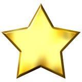 stella dorata 3D Fotografie Stock