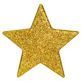 stella dorata di natale   Fotografie Stock