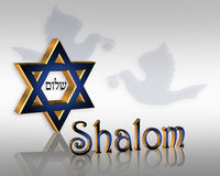 Stella ebrea di Hanukkah Shalom Fotografia Stock Libera da Diritti