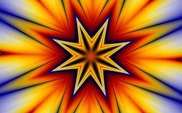 Stella ed esplosione (fractal30e) Fotografie Stock