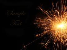 Stella filante bruciante di Natale, fuoco del Bengala Immagini Stock
