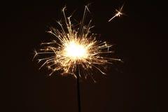 Stella filante dei fuochi d'artificio Immagine Stock