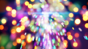 Stella filante di Natale e primo piano delle luci Immagine Stock Libera da Diritti